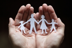 cuppingpaperfamily_shutterstock_57841969